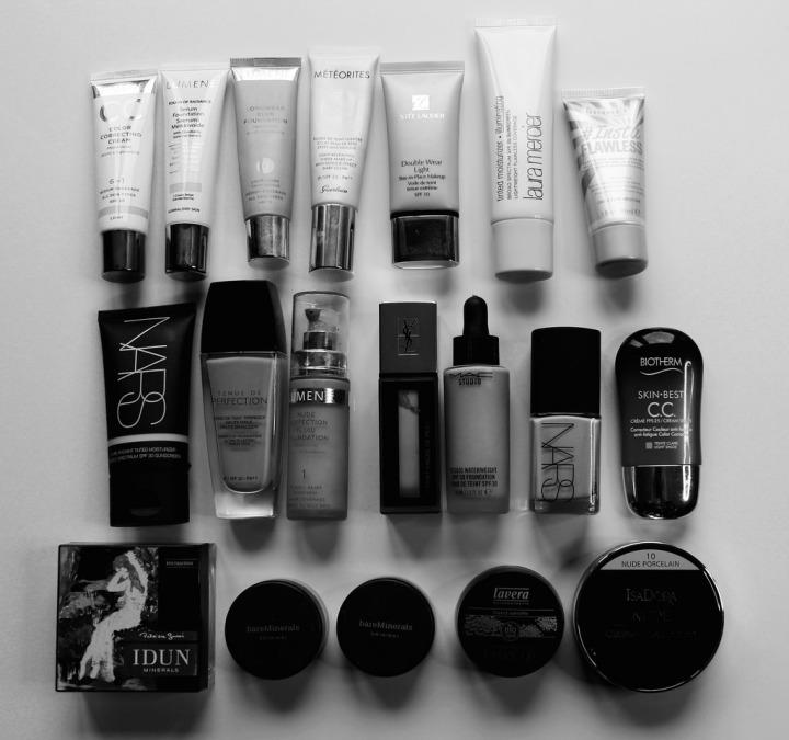 Kaikki meikkipohjatuotteeni