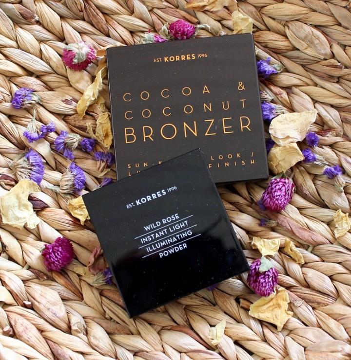 Kesäiset suosikkini Korresilta: Cocoa & Coconut Bronzer ja Wild Rose IlluminatingPowder